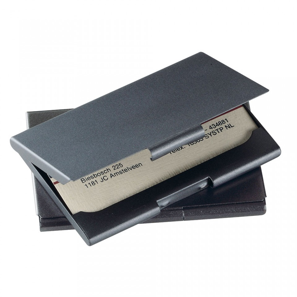 Dark Grey Business or Credit Card Case Holder