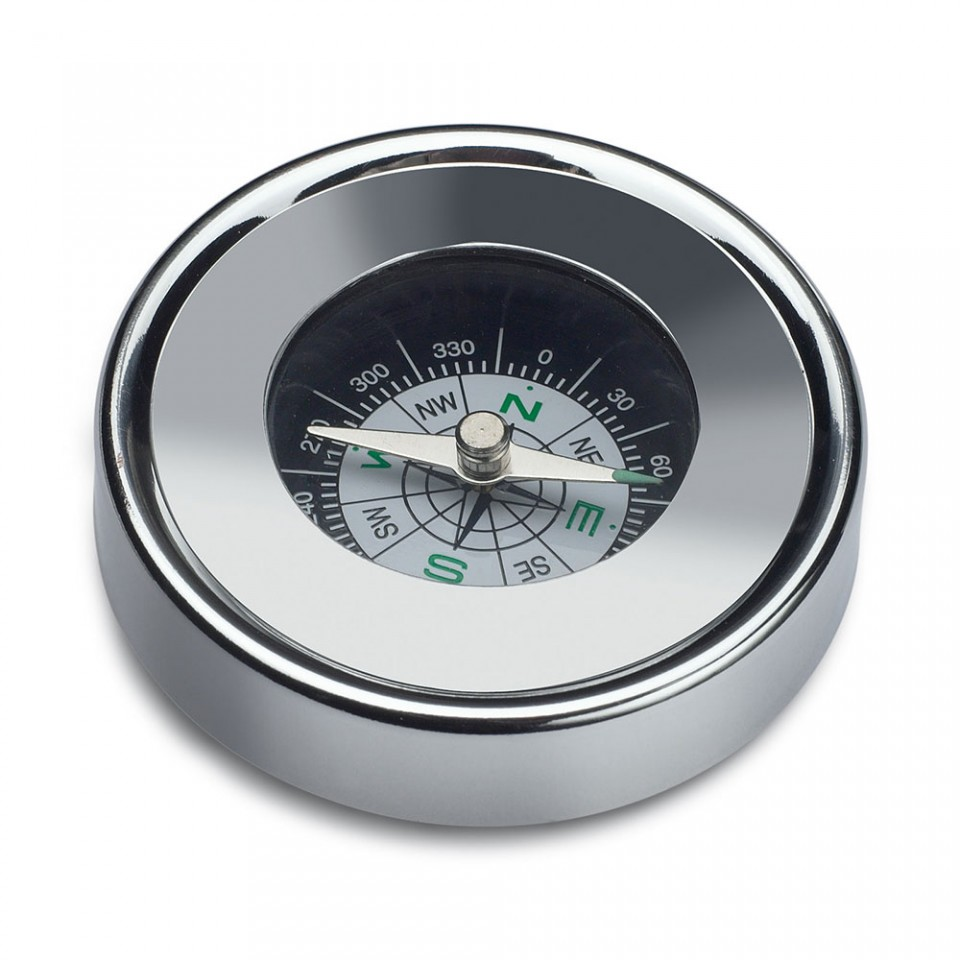 Metal Round Compass in Tin Tartan Trader