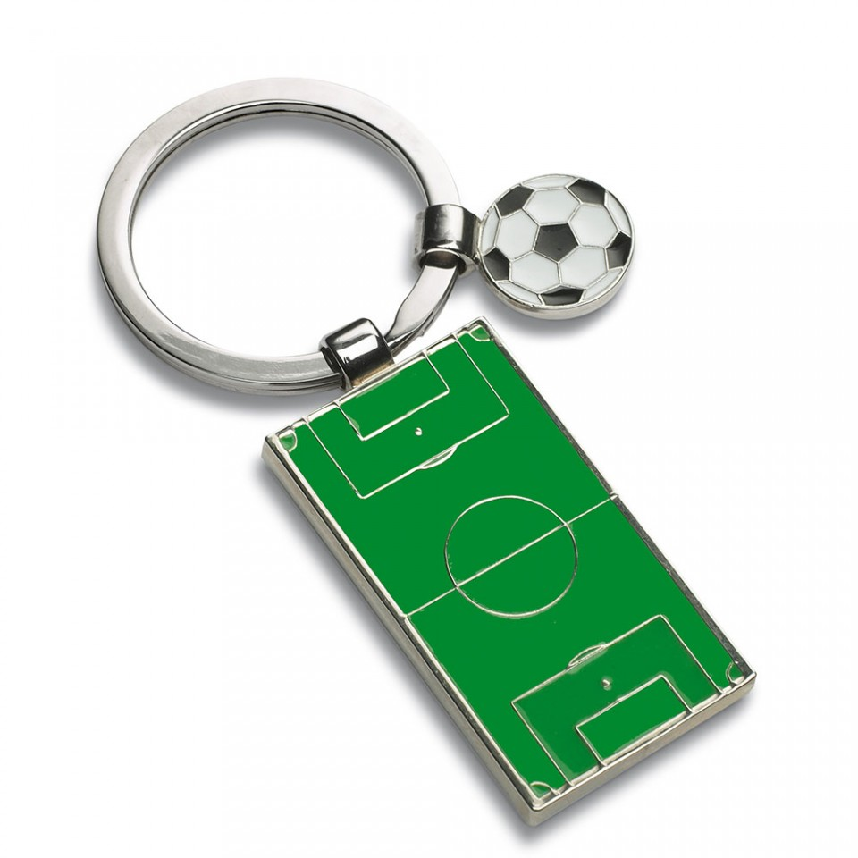 Novelty Football and Pitch keyring Gift for Football Fans | Tartan