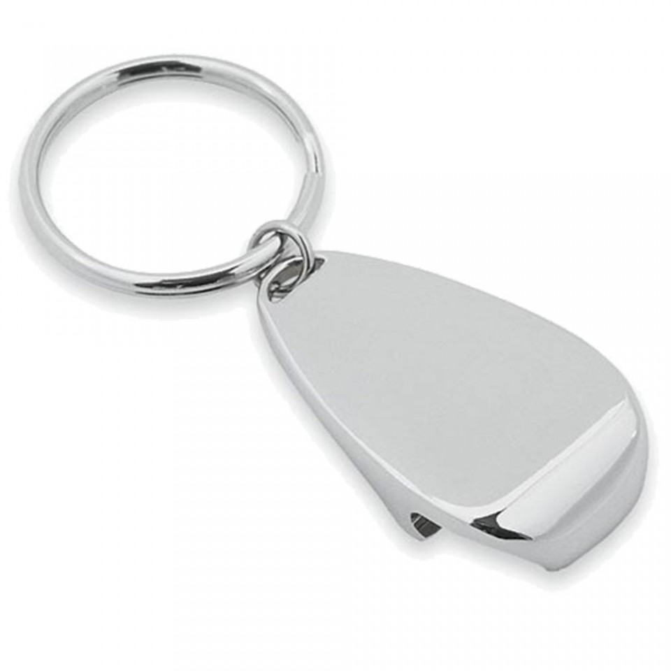 Chrome Keyring and Bottle Opener Tartan Trader
