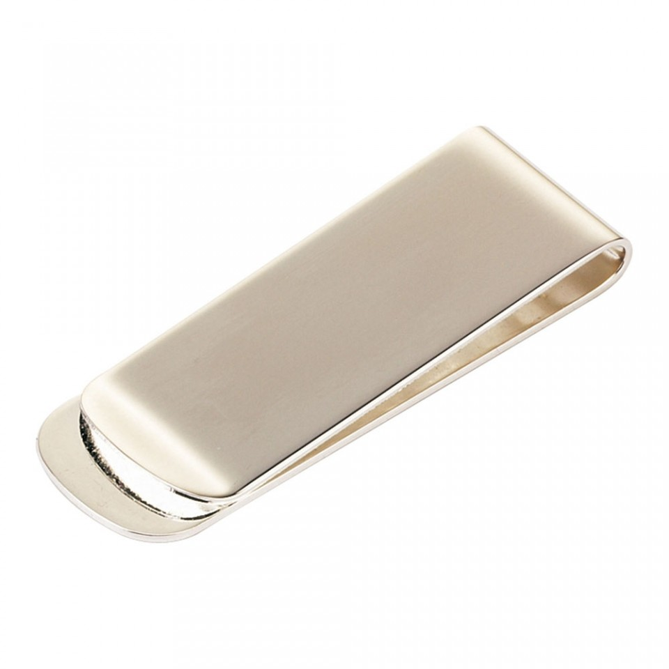 Silver Plated Straight Money Clip Tartan Trader