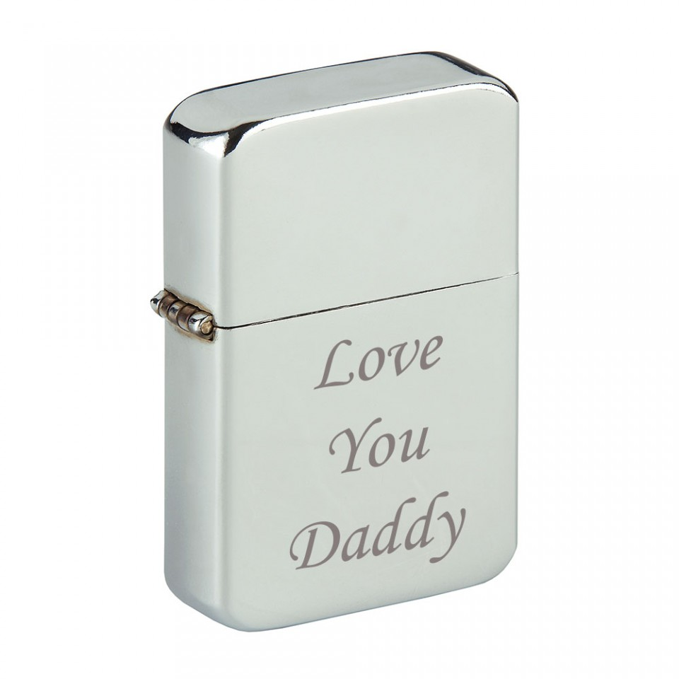 Storm Oil Lighter Engraved Love You Daddy Tartan Trader