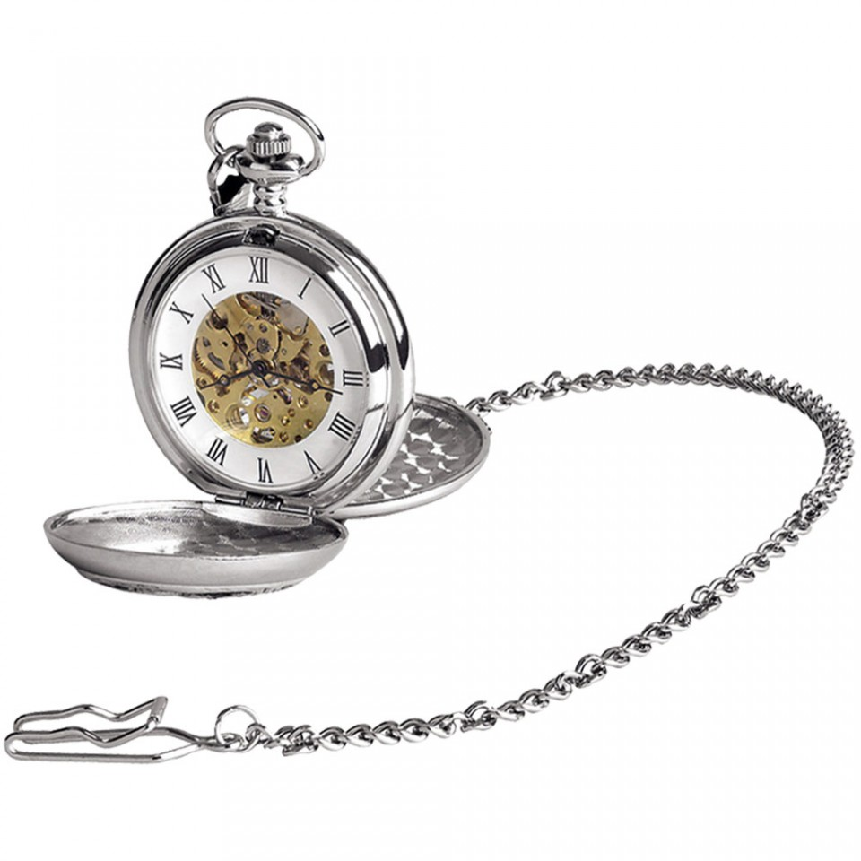 Skeleton Pocket Watch - plain 17 jewel Tartan Trader
