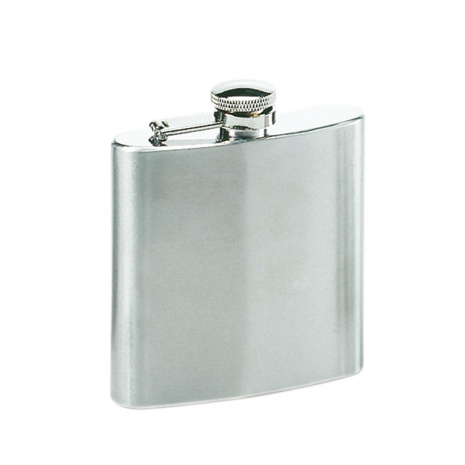 6oz Stainless Steel Hip Flask Tartan Trader