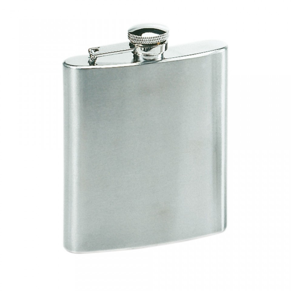 8oz Stainless Steel Hip Flask Tartan Trader